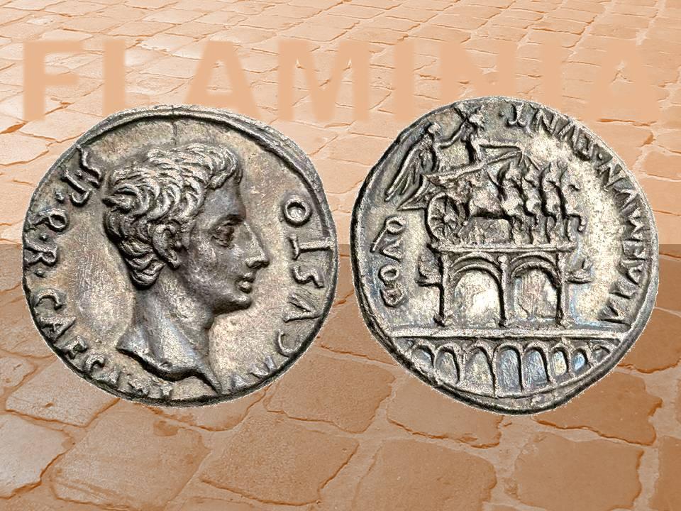 Via Flaminia e monete