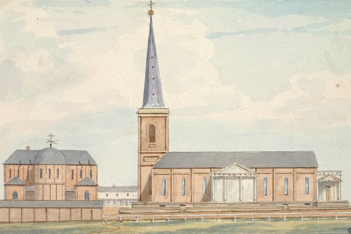 L'elegante chiesa di Saint James a Sydney nel progetto dell'architetto Francis Greenway che, dopo alcuni trascorsi poco limpidi nel Regno Unito, in Australia si costruì una solida reputazione finendo perfino su una banconota