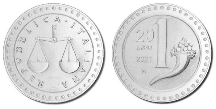 Ai 50 euro denominati Riedizione della lira (un titolo più attraente non si poteva trovare?) si affianca una moneta da 20 euro al peso di un quarto di oncia di metallo prezioso che, stando alla legge, dovrebbe essere venduta esente Iva