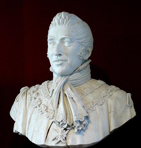 Un busto di re Carlo X di Francia di puro gusto neoclassico