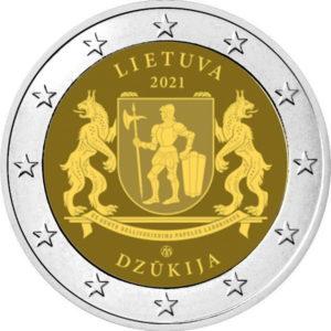 Lo stemma della regione etnografica di Dzūkija campeggia sulla prima bimaetallica lituana in emissione quest'anno