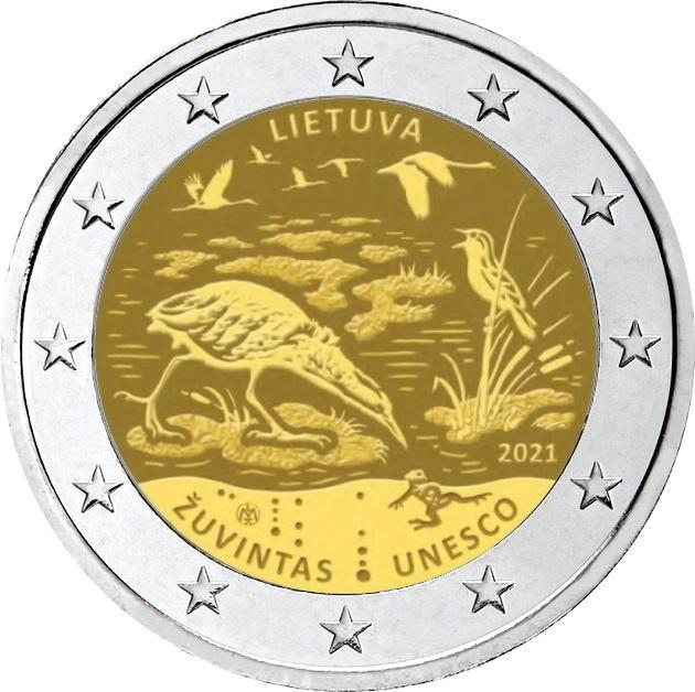 Le ricchezze della biosfera, un patrimonio da preservare, sono protagoniste di una delle moente commemorative da 2 euro che la Lituania ha messo in programma per il 2021