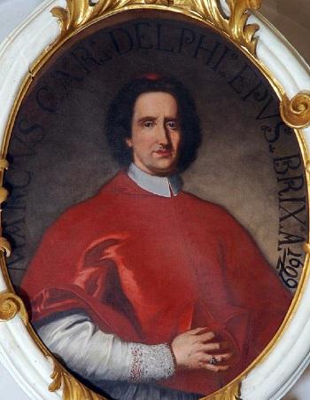 Daniele Dolfin, qui in abiti da cardinale, fu vice legato nella città francese dalla fine del 1691 al 1696