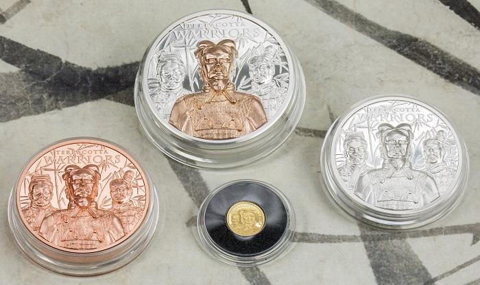 Quattro pezzature, di cui due con tiratura limitata, celebrano grazie alla creatività di CIT Coin Invest l'Esercito di terracotta, uno dei siti archeologici Patrimonio dell'umanità UNESCO
