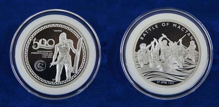 """Per i cinque secoli dall'evento che segna il primo """"atto di indipendenza"""" dell'arcipelago è stata realizzata anche una medaglia commemorativa in argento, in versione proof"""