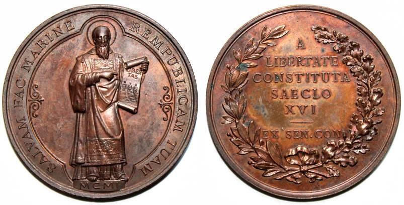Non solo monete e medaglie, come questa per il XVI centenario della Repubblica celebrato nel 1901, ma anche coni, modelli in gesso e bronzo, bozzetti inediti e altri materiali arricchiranno il percorso numismatico del MFM