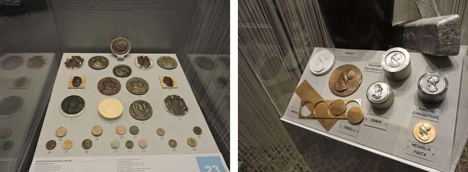 Al Museo della Zecca di Roma ampie sezioni sono dedicate alla medaglistica d'arte del Novecento e ai materiali creatori: lo scopo è didattico, oltre che museale in senso classico, per far scoprire il dietro le quinte di un'officina monetaria