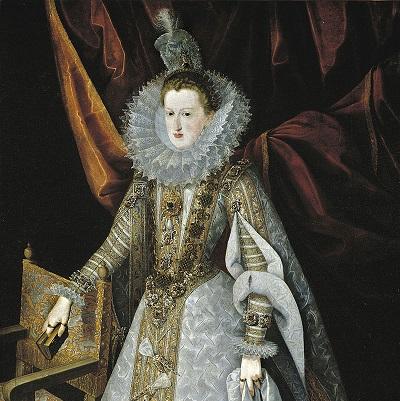 Margherita d'Austria, sposa di Filippo III di Spagna, in un ritratto conservato al Museo del Prado di Madrid