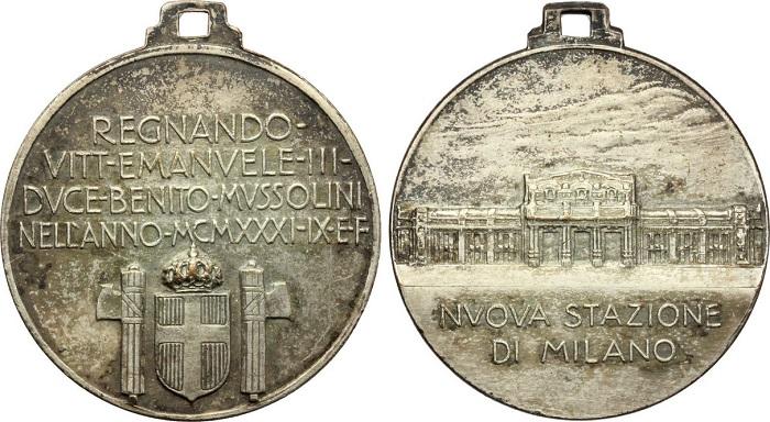 """La seconda medaglia, quella """"popolare"""", coniata a commemorazione del grande evento milanese del 1931"""