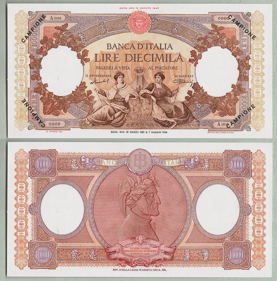 campione 10.000 lire