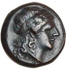 Litra romano-campana a legenda ROMA: il dritto