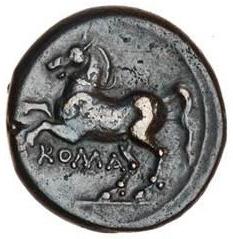 Litra romano-campana a legenda ROMA: il rovescio