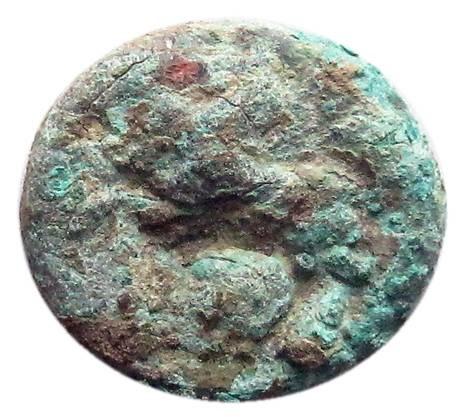 Il rovescio, al tipo del cavallino andante verso sinistra, della moneta che riapre la questione sulla data delle prime emissioni della zecca di Roma