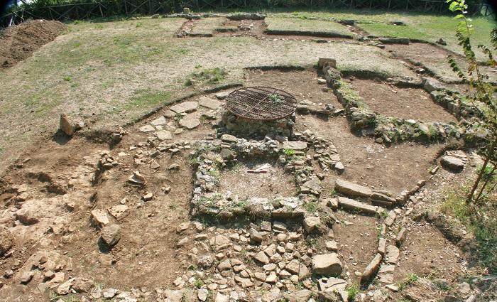 Uno scorcio degli scavi archeologici di Castrum Novum, nei pressi di Santa Marinella, in provincia di Roma