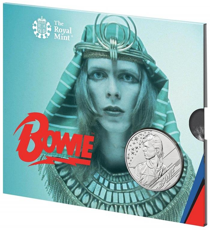 Come sempre, le più belle copertine degli album prodotti dall'artista ispirano la Royal Mint per il packaging delle monete
