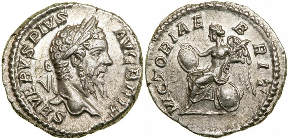 """Un bel denario in argento di Settimio Severo: da Nicopolis ad Istrum vennero inviati ben 700.000 denari come """"donativo di riparazione"""" all'imperatore, che la città non aveva sostenuto al momento dell'ascesa al trono"""