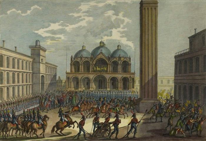 Napoleone Bonaparte a Venezia nel 1797: il turbine rivoluzionario si abbatte rovinoso sulle secolari istituzioni della Serenissima