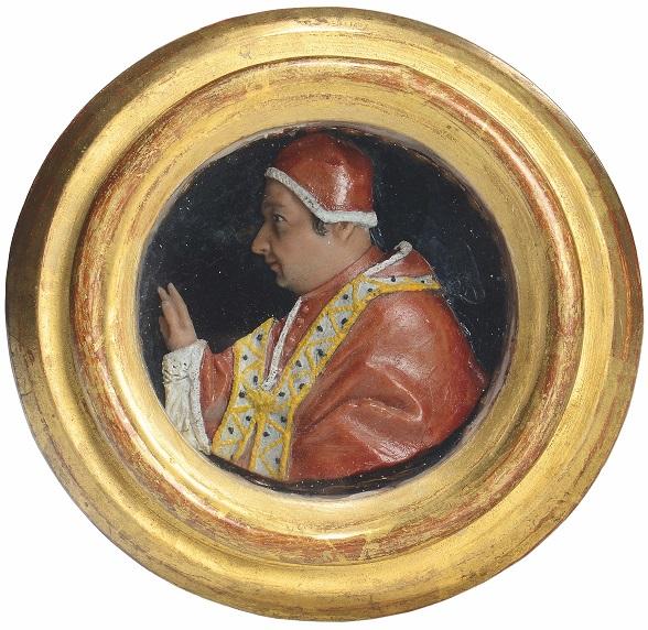 Ritratto di Clemente XI Albani del XVIII secolo, oggi in collezione privata e passato all'incanto Cambi Aste