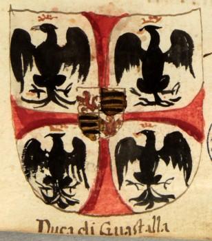 Araldica del ramo Gonzaga dei duchi di Guastalla da un antico documento