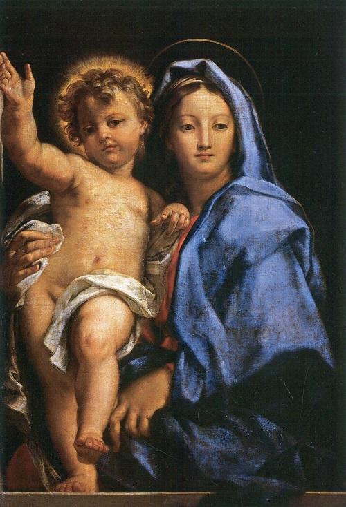 """La """"Vergine col Bambino"""" di Carlo Maratta da cui venne tratto il mosaico che ancora oggi abbellisce il Torrino del Quirinale"""
