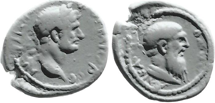 Calco del bronzo provinciale dedicato ad Erodoto durante il periodo di regno di Adriano: un esemplare simile, di pregevole conservazione, è conservato a Berlino
