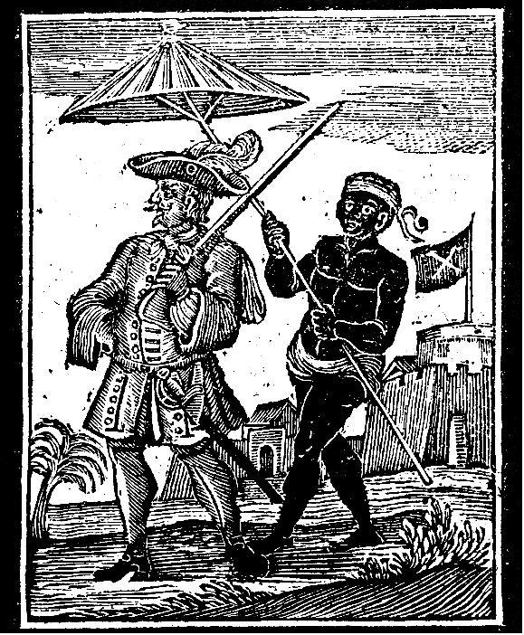 Un'incisione del XVIII secolo che mostra il pirata inglese Henry Every, già all'epoca una vera e propria leggenda