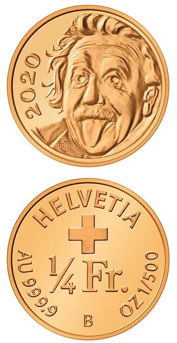 E' entrata nel Guinness dei primati la moneta elvetica da 1/4 di franco dedicata lo scorso anno ad Albert Einstein, genio elvetico che ha segnato la storia della scienza come forse nessun altro