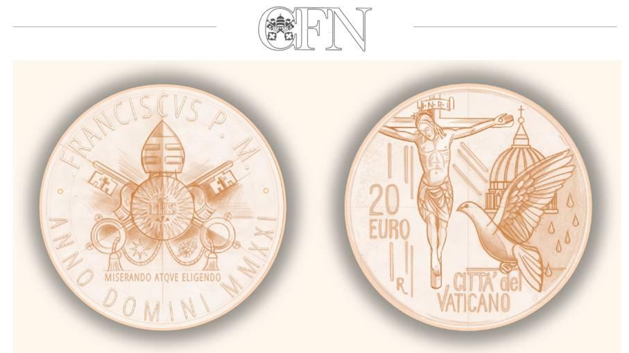 """I disegni di Gabriele Di Maulo per i 20 euro vaticani inseriti nella divisionale proof 2021 di papa Francesco, in esclusiva per """"Cronaca numismatica"""""""