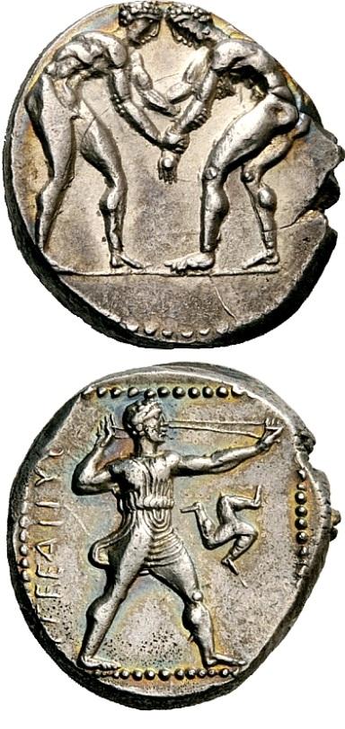 Lo statere di Aspendos con il fromboliere e i lottatori, un capolavoro della numismatica classica