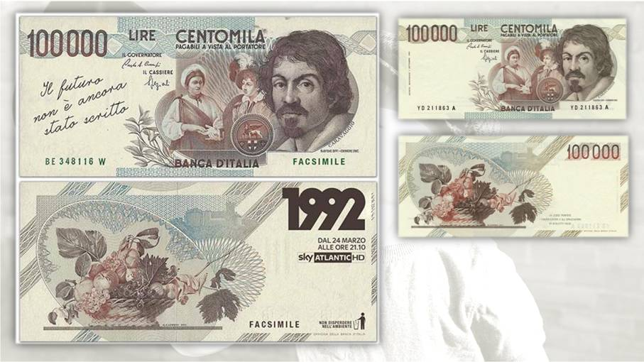 banconote e pubblicità