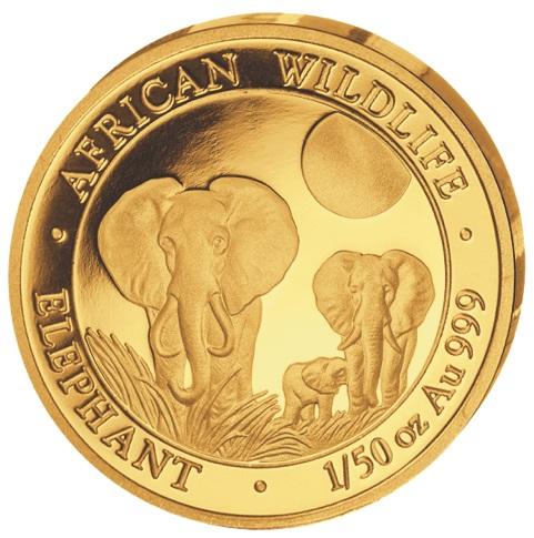 """La moneta da 1/50 di oncia d'oro della Somalia, millesimo 2014, risultata """"sottopeso"""" di oltre il 20% rispetto agli esemplari standard: è unica?"""