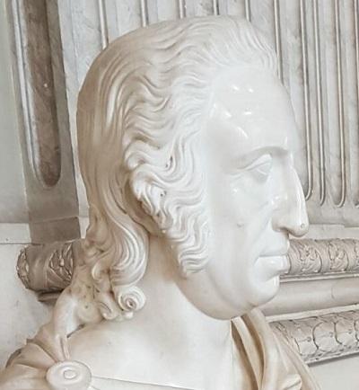 Busto in marmo che ritrae l'inconfondibile profilo di re Ferdinando III di Borbone re di Sicilia (1789-1816)