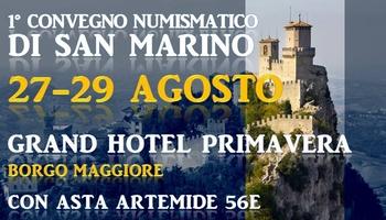 1° Convegno numismatico - San Marino 27-29 agosto 2021