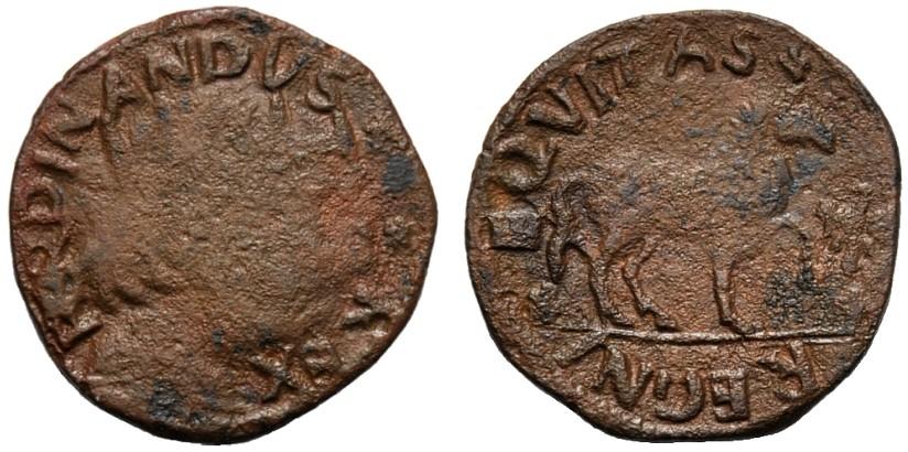 Cavallo di 1° periodo con nome FERDINANDVS attorno al ritratto