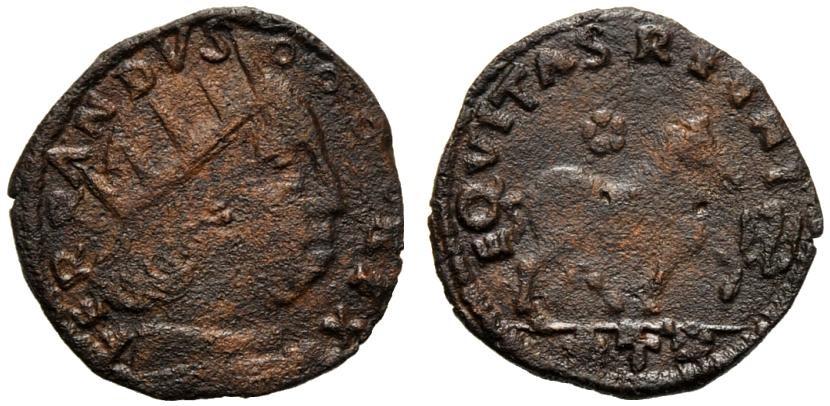 Cavallo di 2° periodo con nome FERRANDVS attorno al ritratto