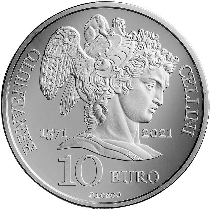 Daniela Longo, artista della moneta e della medaglia dalla lunga esperienza, ha reso omaggio con maestria a Benvenuto Cellini nella 10 euro di San Marino in emissione il 24 giugno