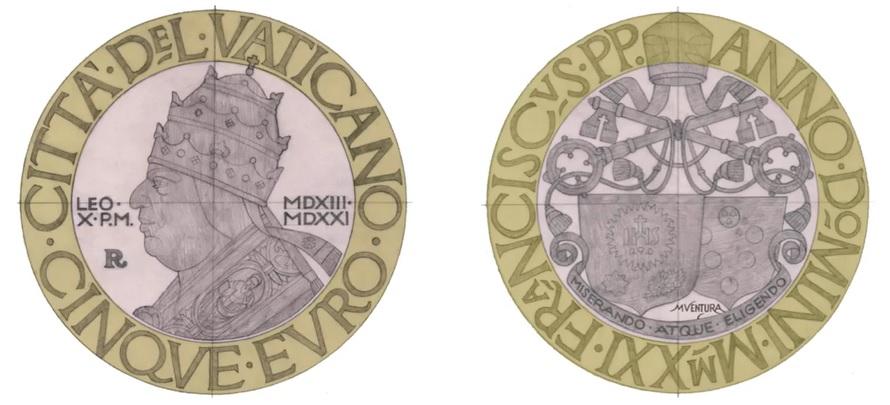 Anche le indicazioni per l'incisione dei coni vengono fornite dall'artista a colui che materialmente, in questo caso Valerio De Seta, dovrà realizzare i materiali creatori