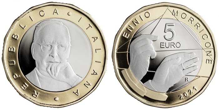 Dodecagonale, proof e dal nominale di 5 euro: ecco la seconda moneta con cui l'Italia rende omaggio, a un anno dalla morte, ad uno dei suoi più grandi musicisti di ogni tempo