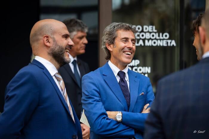 Il segretario di Stato Andrea Belluzzi ha fortemente appoggiato il progetto del Museo del francobollo e della moneta giunto a compimento l'8 luglio