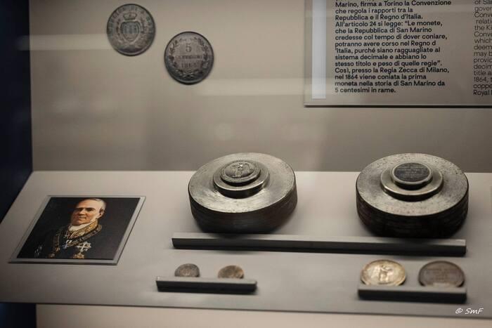 Uno scorcio del Museo del francobollo e della moneta inaugurato l'8 luglio a San Marino
