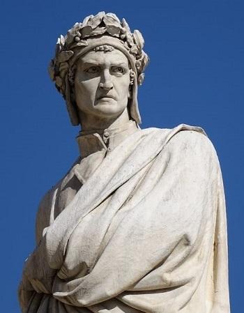 Il monumento a Dante a Firenze, uno degli tanti presenti in grandi e piccole città italiane