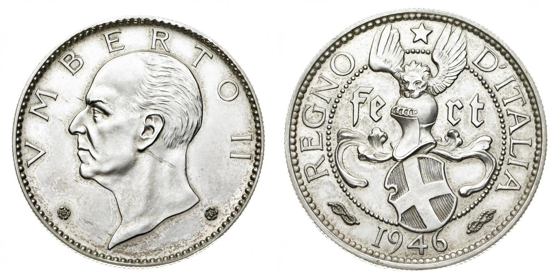 """Medaglia con data 1946 e ritratto di Umberto II di Savoia: erede del """"re numismatico"""", ha restituito all'Italia le monete di Casa Savoia ed è stato un fine cultore di medaglistica"""