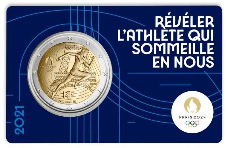 La coincard con i 2 euro francesi millesimo 2021: mezzo milione gli esemplari disponibili mentre la proof in astuccio è stata prodotta in soli 10.000 pezzi