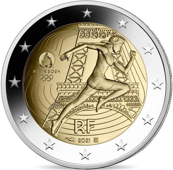 Scattante come non mai, Marianne campeggia sui primi 2 euro olimpici che la Francia sta per emettere nel cammino di avvicinamento a Parigi 2024