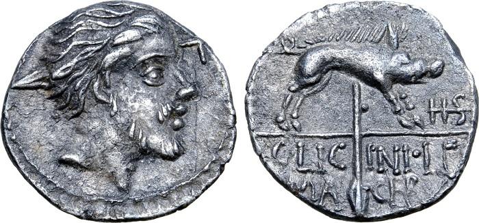 Il sesterzio d'argento dell'84. a.C., unico esemplare noto di questo tipo, passato in asta nel 2020