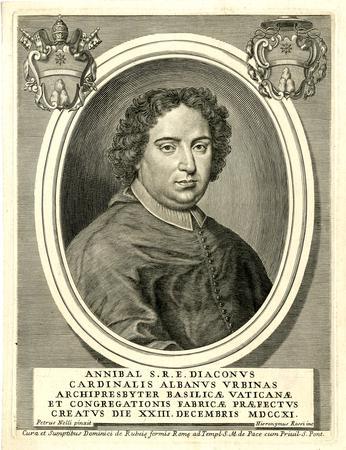 Il cardinale Annibale Albani, fratello di papa Clemente XI e camerlengo nella Sede Vacante 1721